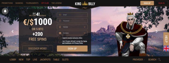 king billy crypto casino