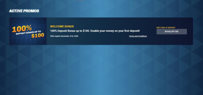 rivalry deposit bonus